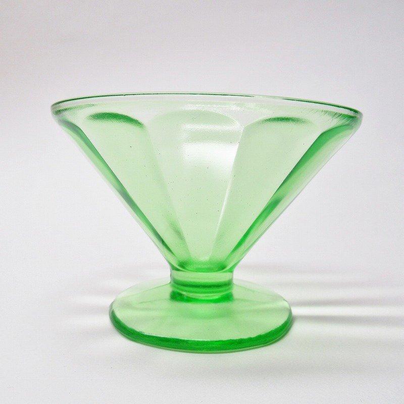 フェデラルグラス ディプレッショングラス ワセリンカラー シャーベットカップ アウトレット A