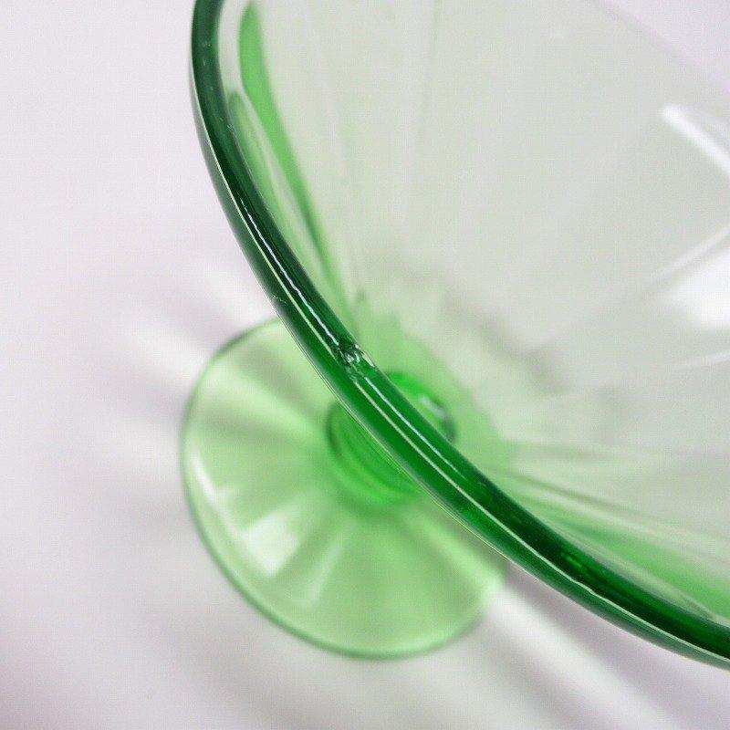 フェデラルグラス ディプレッショングラス ワセリンカラー シャーベットカップ アウトレット A【画像4】
