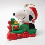 キャラクター  スヌーピー PVC ホイットマンズ クリスマス オーナメント 汽車