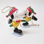 キャラクター  スヌーピー PVC ホイットマンズ クリスマス オーナメント アイススケート