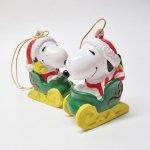 キャラクター  スヌーピー PVC ホイットマンズ クリスマス オーナメント サンタのそり
