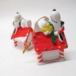 キャラクター  スヌーピー PVC ホイットマンズ クリスマス オーナメント お昼寝