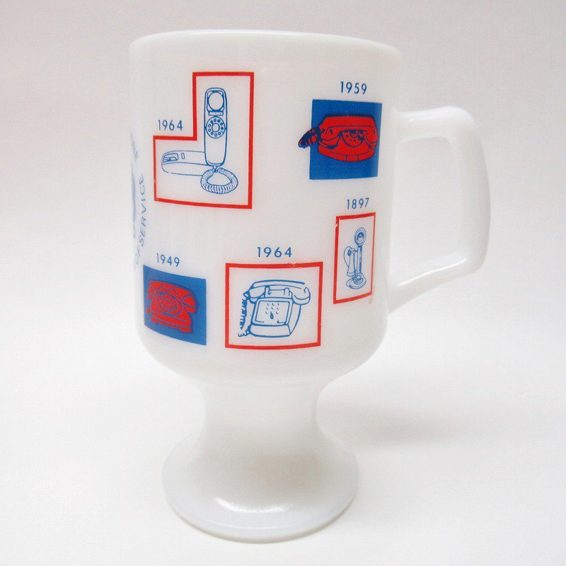フェデラルグラス 1976年 電話100周年記念 フッテッドマグ