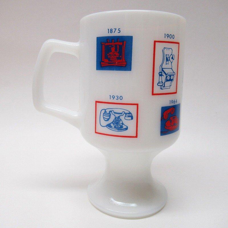 フェデラルグラス 1976年 電話100周年記念 フッテッドマグ【画像3】