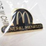 マクドナルド  マクドナルド 並行輸入品 ピンズ ゼネラルマネージャー