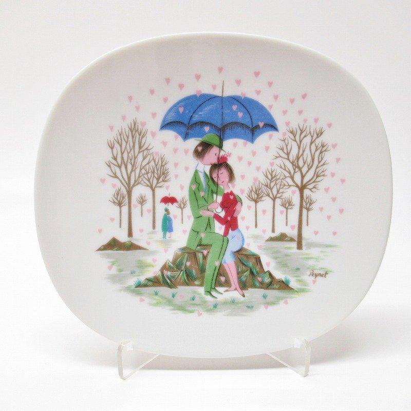 ローゼンタール ドイツ製 レイモンペイネの恋人たち ハートの雨プレート