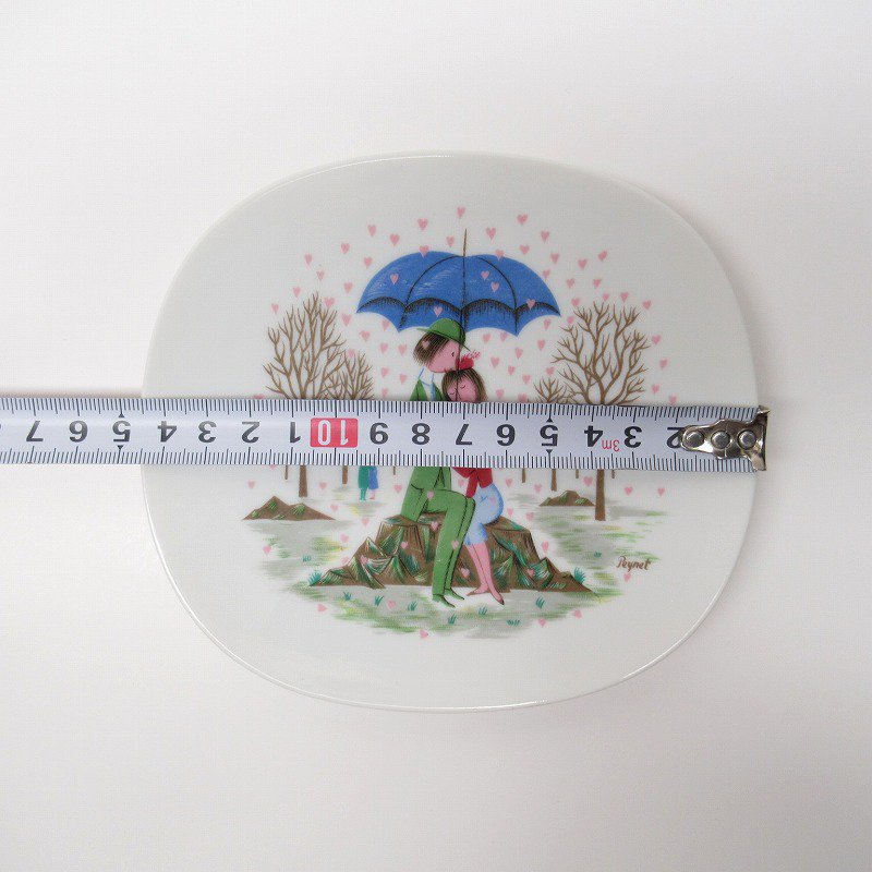 ローゼンタール ドイツ製 レイモンペイネの恋人たち ハートの雨プレート【画像15】