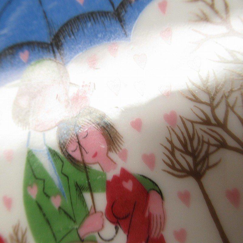 ローゼンタール ドイツ製 レイモンペイネの恋人たち ハートの雨プレート【画像3】