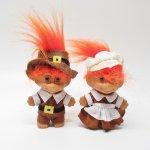 ハロウィン&サンクスギビング  トロール人形 サンクスギビング ピルグリムカップル