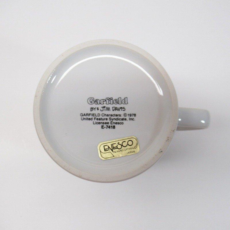 ガーフィールド 米国輸出用日本製 80年代 陶器製マグ オリジナルラベル付【画像7】