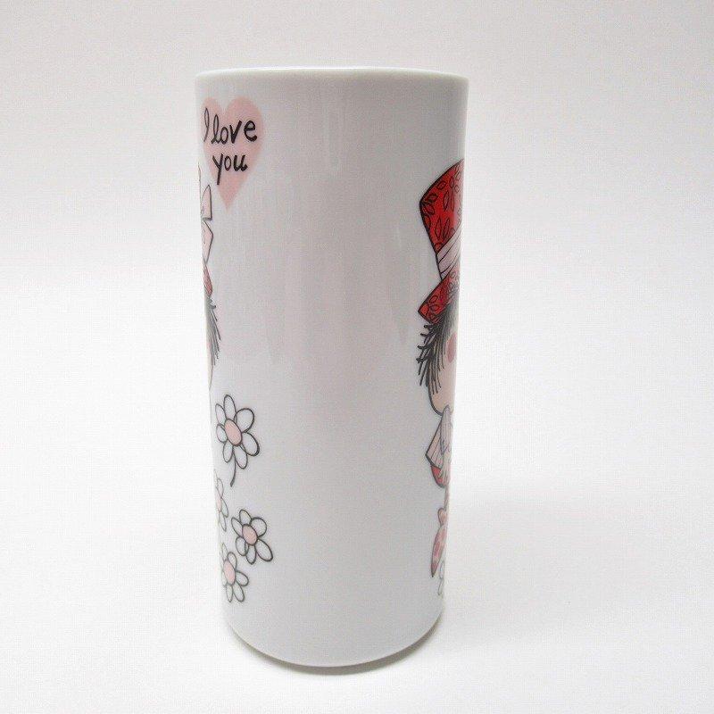 昭和レトロ 米国輸出用日本製 I LOVE YOU 陶器製 スリムマグ【画像4】