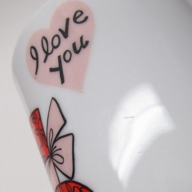 昭和レトロ 米国輸出用日本製 I LOVE YOU 陶器製 スリムマグ【画像8】