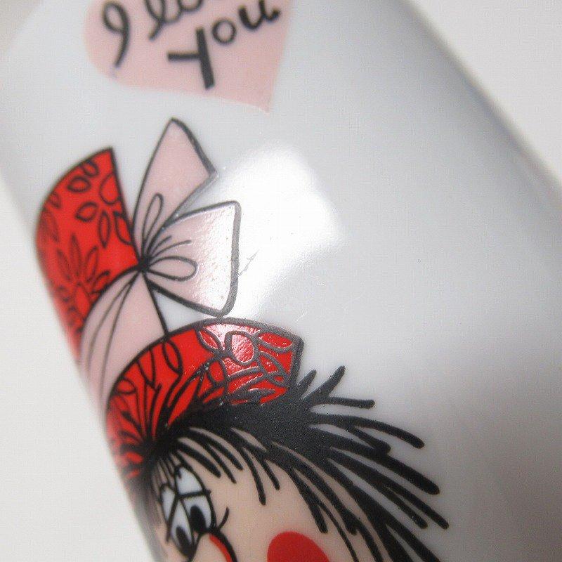 昭和レトロ 米国輸出用日本製 I LOVE YOU 陶器製 スリムマグ【画像9】
