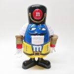 ツリーにつけるオーナメント  エムアンドエムズ M&M's クリスマス くるみ割り人形 青 ディスペンサー