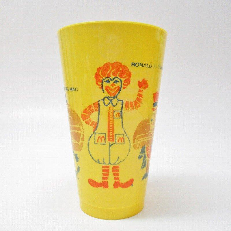 マクドナルド 1970年代 キャラクター プラスチック製タンブラー 黄色