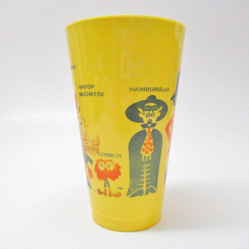 マクドナルド 1970年代 キャラクター プラスチック製タンブラー 黄色【画像3】