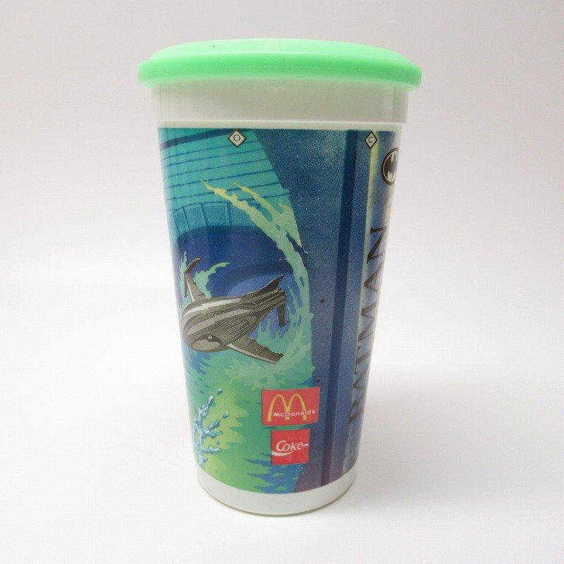 マクドナルド 1992年 バットマンリターンズ プラスチック製カップ 蓋付【画像3】