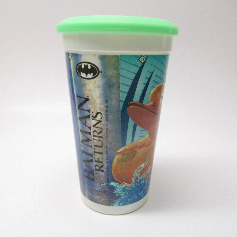 マクドナルド 1992年 バットマンリターンズ プラスチック製カップ 蓋付【画像4】