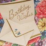 使用済  ヴィンテージカード Birthday Wishes お手紙  使用済