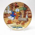 リビング  ドナルドダックと仲間たち ドナルドとチップ&デール 1947年復刻版 東京ディズニーランド 陶磁器製 絵皿