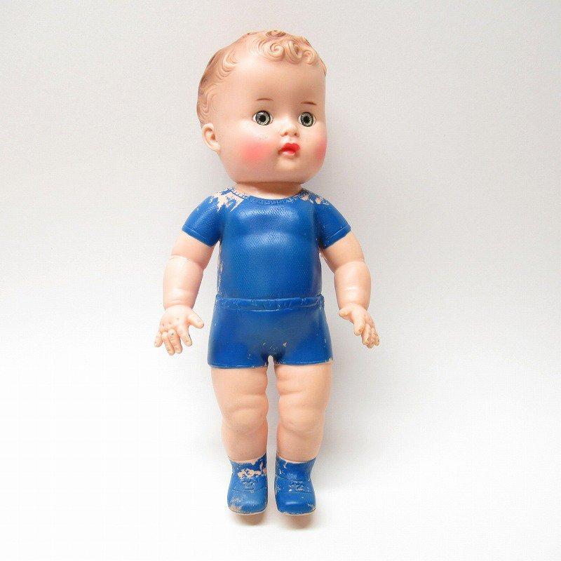 サンラバーカンパニー ラバードール 青いお洋服と靴