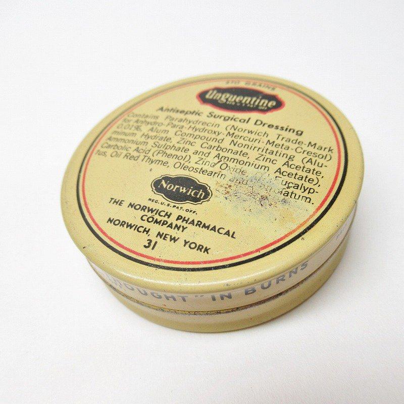 ヴィンテージ Unguentine 軟膏用ティン缶
