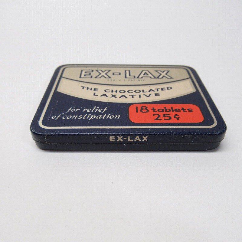 ヴィンテージ EX-LAX オリジナル使用上の説明書付き ティン缶 レギュラーサイズ【画像2】