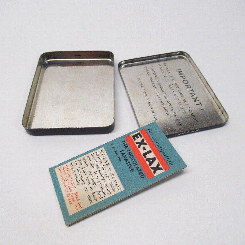 ヴィンテージ EX-LAX オリジナル使用上の説明書付き ティン缶 レギュラーサイズ【画像11】