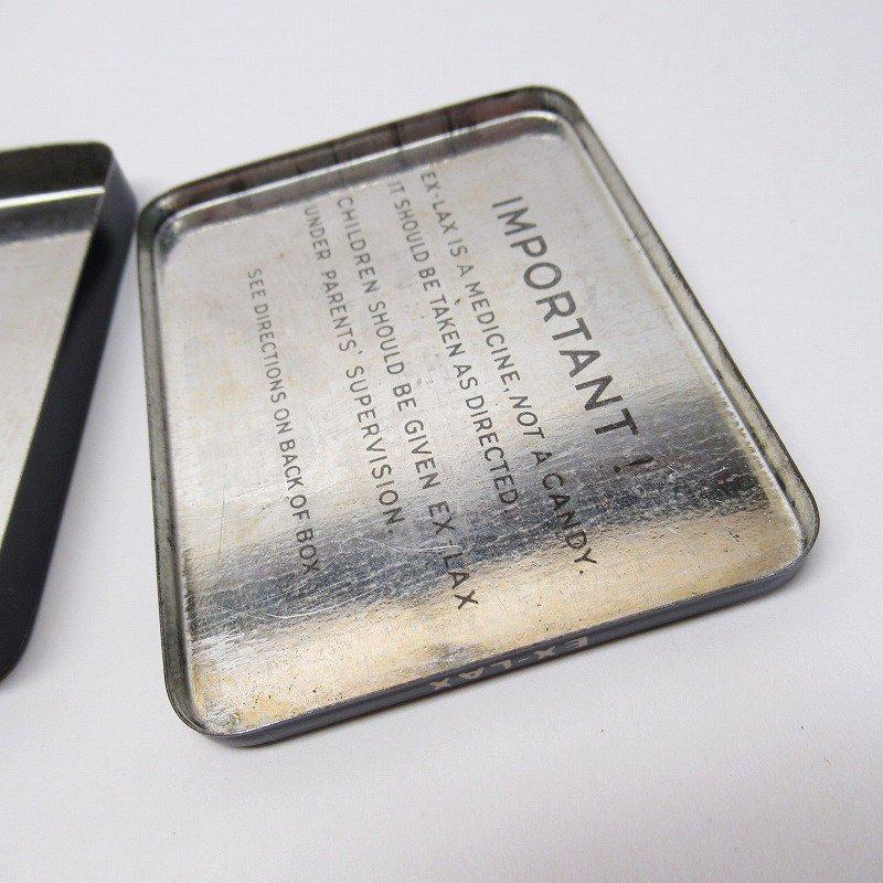 ヴィンテージ EX-LAX オリジナル使用上の説明書付き ティン缶 レギュラーサイズ【画像13】