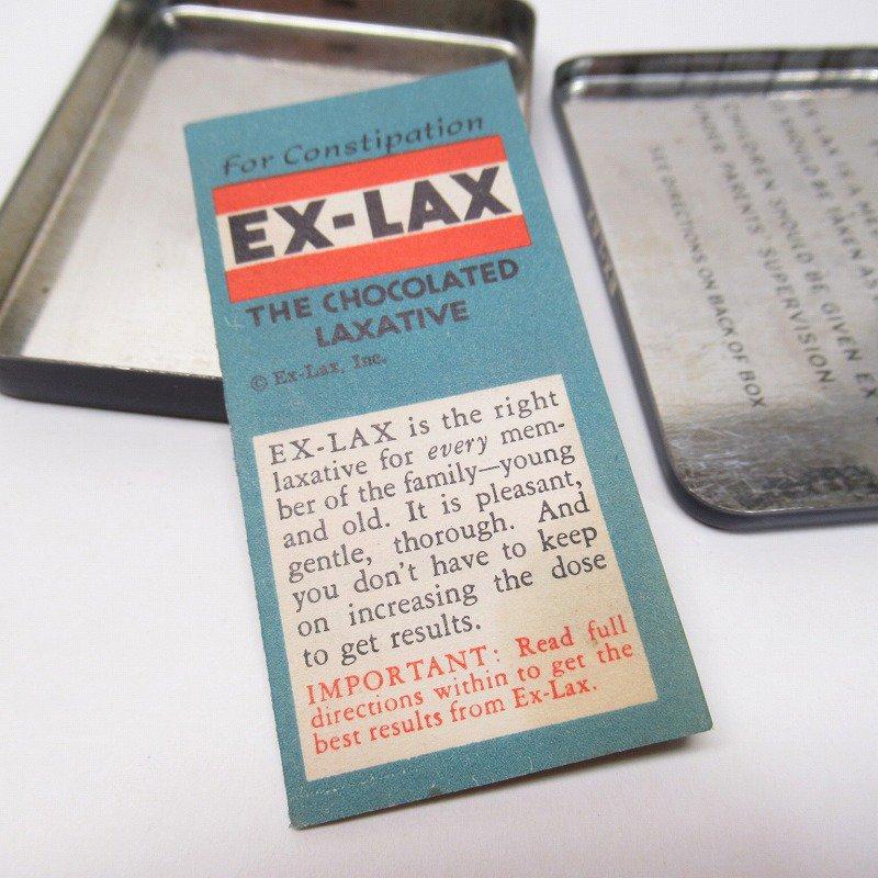 ヴィンテージ EX-LAX オリジナル使用上の説明書付き ティン缶 レギュラーサイズ【画像14】