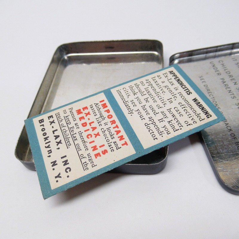 ヴィンテージ EX-LAX オリジナル使用上の説明書付き ティン缶 レギュラーサイズ【画像15】