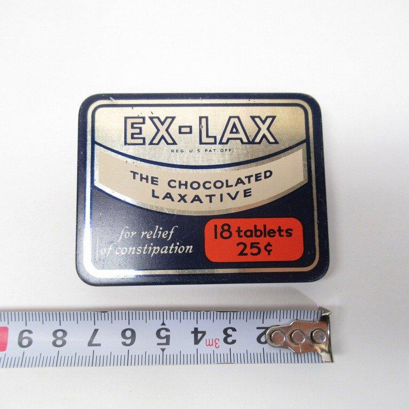 ヴィンテージ EX-LAX オリジナル使用上の説明書付き ティン缶 レギュラーサイズ【画像19】