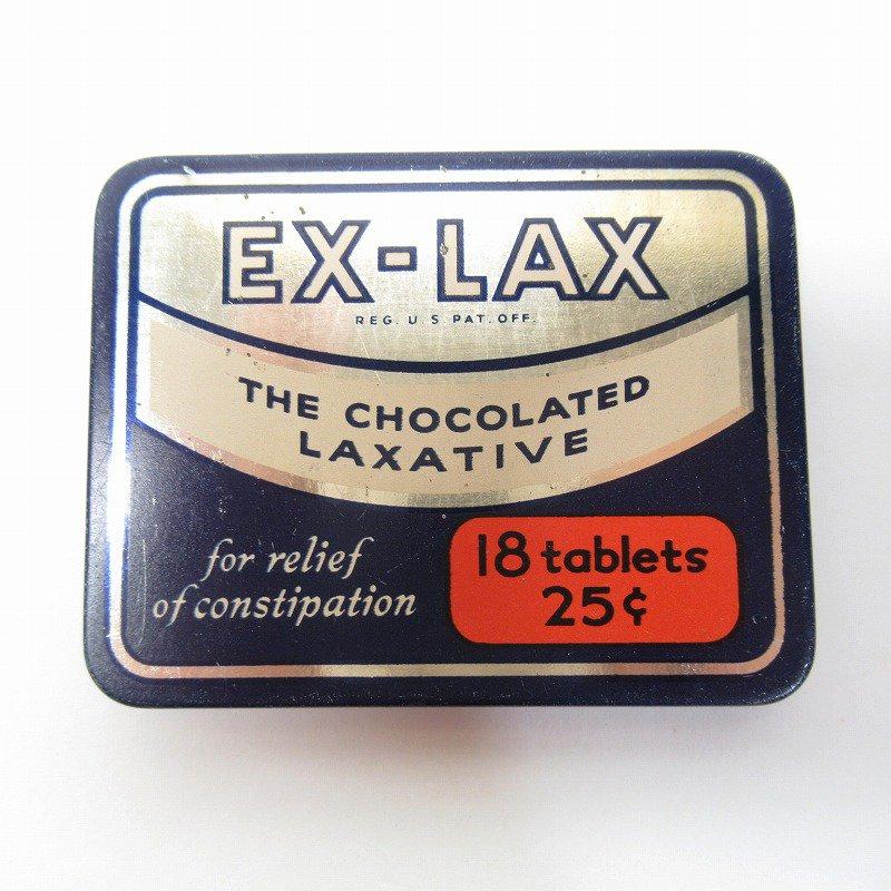 ヴィンテージ EX-LAX オリジナル使用上の説明書付き ティン缶 レギュラーサイズ【画像3】