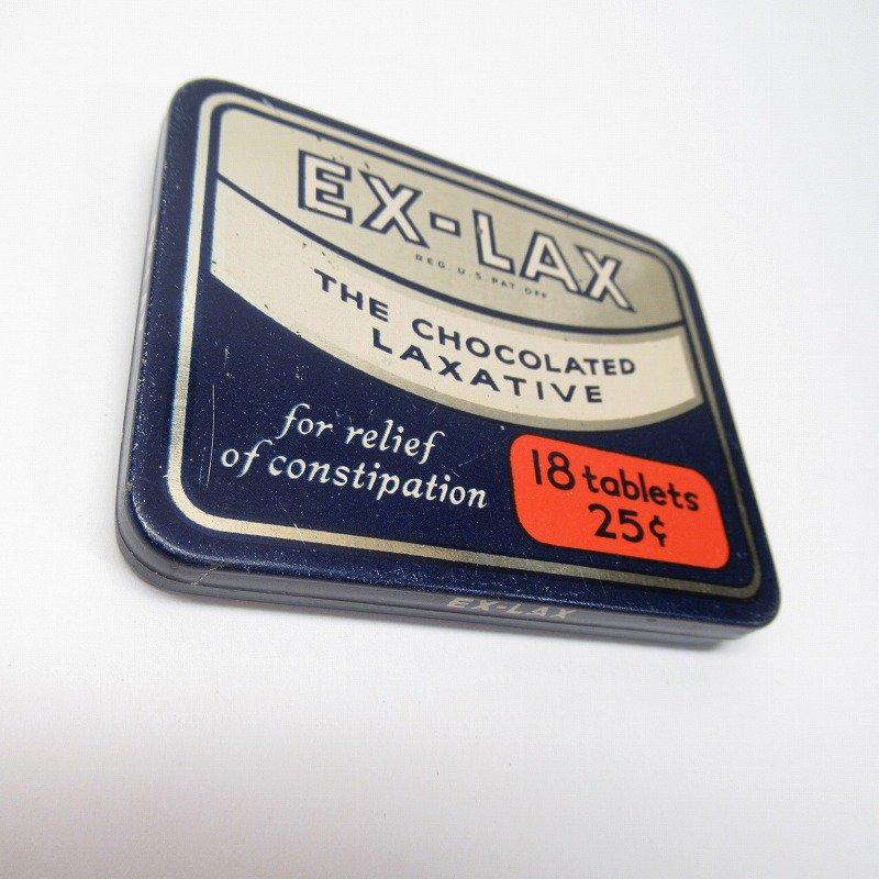 ヴィンテージ EX-LAX オリジナル使用上の説明書付き ティン缶 レギュラーサイズ【画像4】