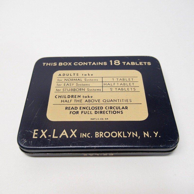 ヴィンテージ EX-LAX オリジナル使用上の説明書付き ティン缶 レギュラーサイズ【画像9】