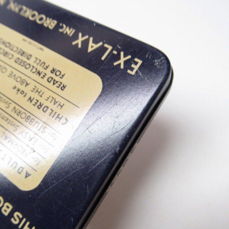 ヴィンテージ EX-LAX オリジナル使用上の説明書付き ティン缶 レギュラーサイズ【画像10】