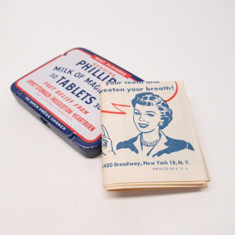 ヴィンテージ フィリップ社 オリジナル使用上の説明書付き ティン缶 レギュラーサイズ