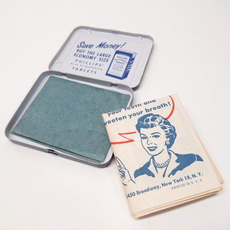 ヴィンテージ フィリップ社 オリジナル使用上の説明書付き ティン缶 レギュラーサイズ【画像11】