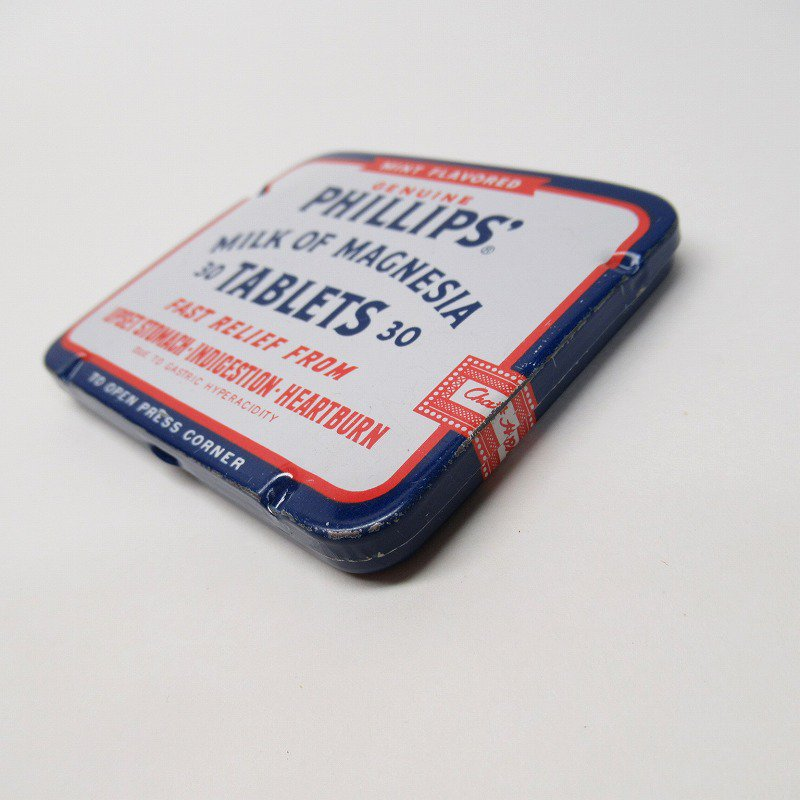 ヴィンテージ フィリップ社 オリジナル使用上の説明書付き ティン缶 レギュラーサイズ【画像4】