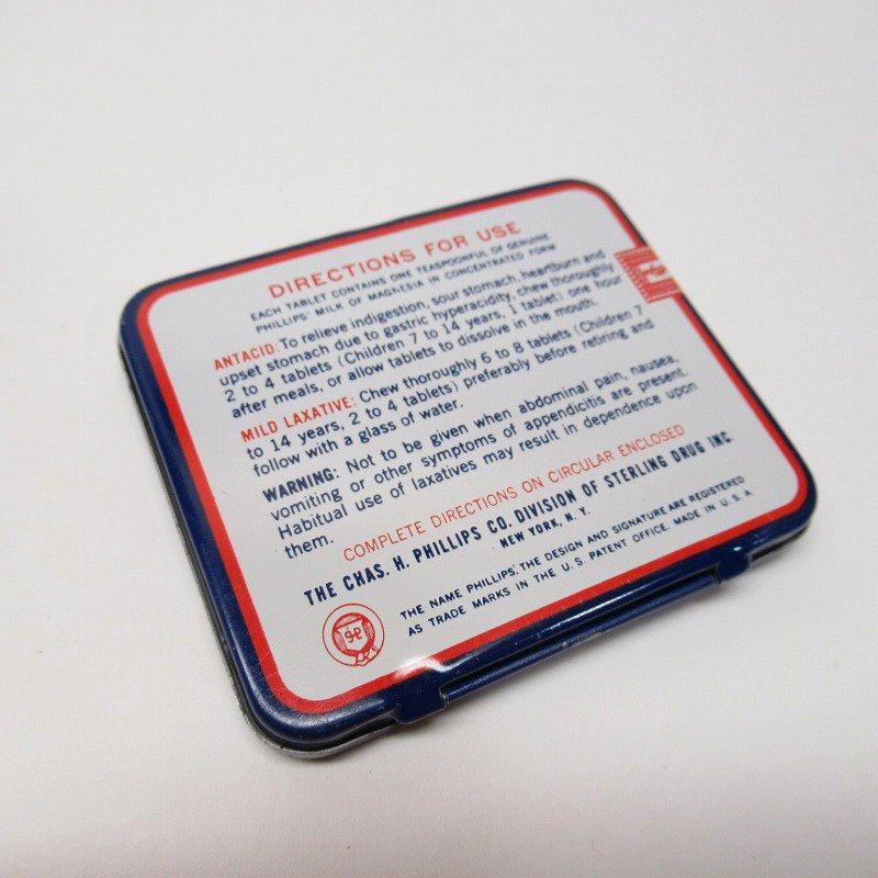 ヴィンテージ フィリップ社 オリジナル使用上の説明書付き ティン缶 レギュラーサイズ【画像9】