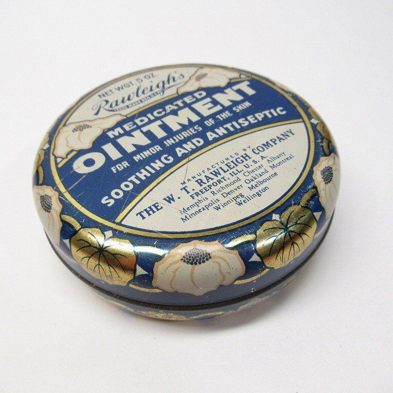 ヴィンテージ Rawleigh社 軟膏用 ティン缶 ラウンド型