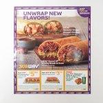 ブックス  サブウェイ広告 Unwrap New Flavors!