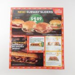 マガジン  サブウェイ広告 Subway Sliders