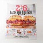 ブックス  アービーズ広告 Bacon Beef