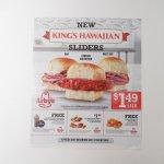 ブックス  アービーズ広告 King's Hawaiian Sliders