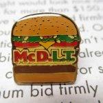 マクドナルド  マクドナルド 1980~90年代 ヴィンテージ ピンズ McDLT B