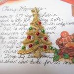 レディス  ヴィンテージアクセサリー クリスマスツリーゴールド 赤緑オーナメント ブローチ