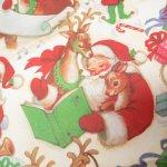 イベント  ラッピングペーパー クリスマス サンタとトナカイ