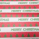 イベント  ラッピングペーパー クリスマス メリークリスマスストライプ
