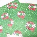 イベント  ラッピングペーパー クリスマス リースと白い鳥